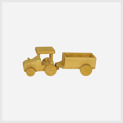 Holzspielzeug Traktor mit Anhänger