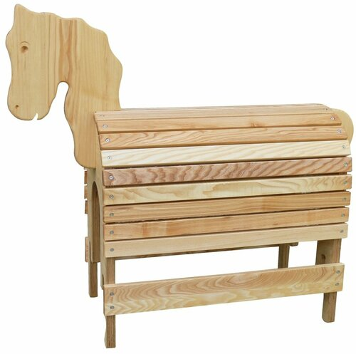 Spielpferd aus Eschenholz