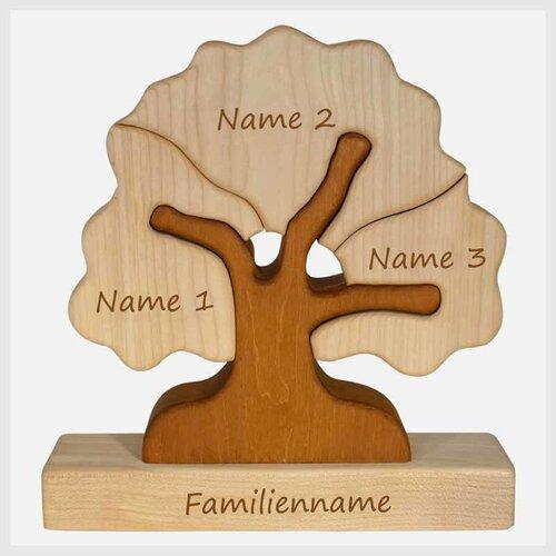 Familienbaum, 3 Gravurfelder