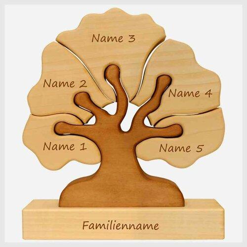 Familienbaum, 5 Gravurfelder