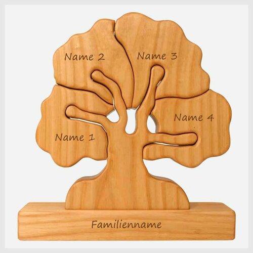 Familienbaum, 4 Gravurfelder